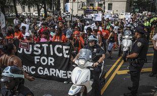Des manifestants demandent justice pour Eric Garner, le 17 juillet 2019 à New York.