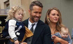 Ryan Reynolds, Blake Lively et leurs enfants sur le Walk of Fame