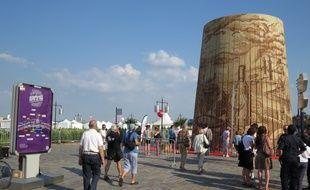 La barrique géante avait été exposée sur les quais pour la fête du vin 2014.