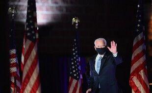 Joe Biden à Wilmington, samedi soir.