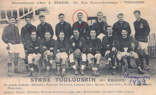 L'équipe du Stade Toulousain championne de France 1922, avec Marcel-Frédéric Lubin-Lebrère.