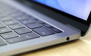 Le clavier d'un Mac.