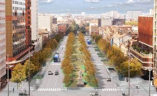 Esquisse du projet de l'urbaniste catalan Joan Busquets.