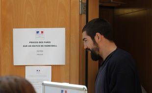 Nikola Karabatic, au procès des paris suspects le 22 juin 2015, au tribunal correctionnel de Montpellier