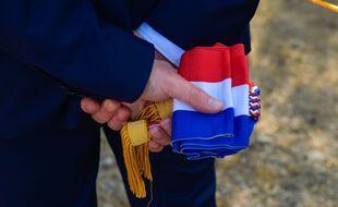 Une écharpe tricolore de député (Laurent Coust / SOPA Images//SOPAIMAGES)
