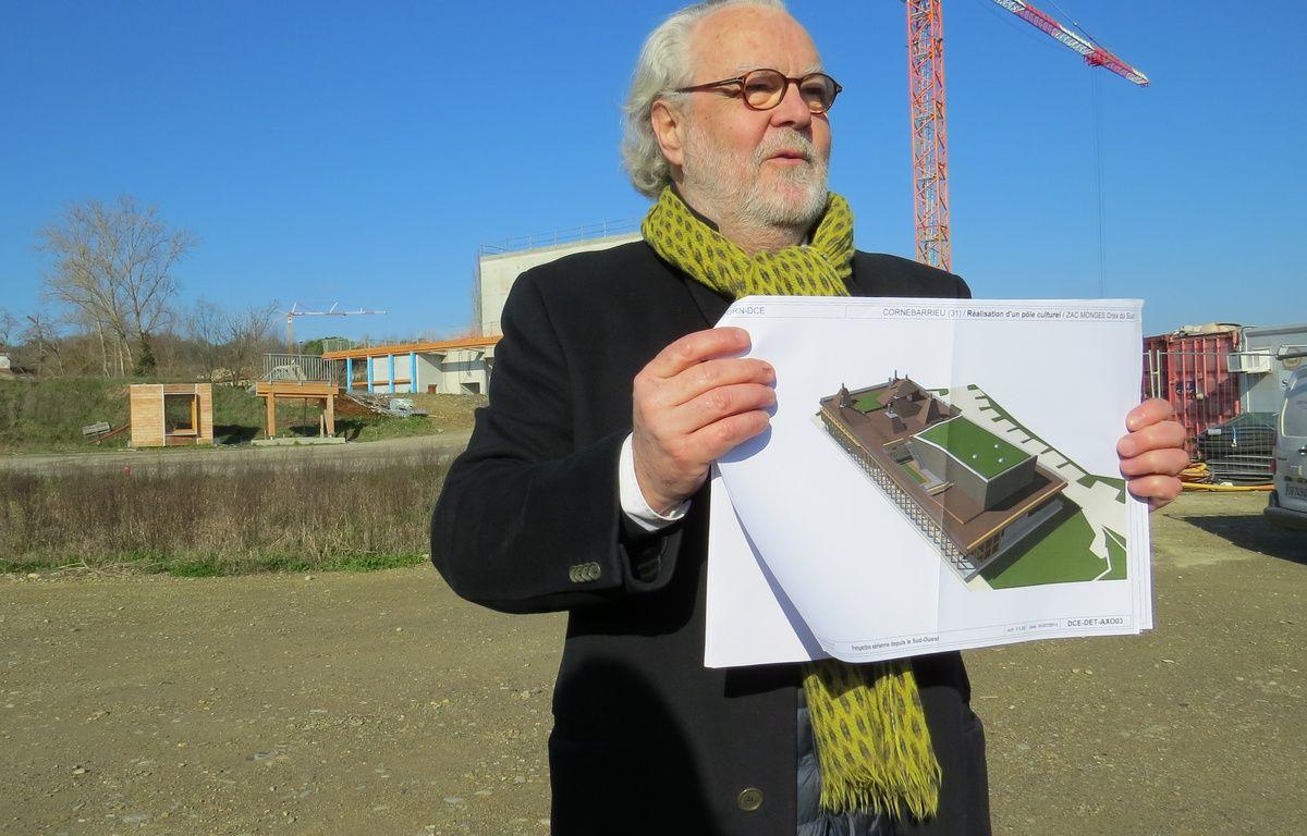 L'architecte Philippe Madec, sur le chantier du centre culturel de Cornebarrieu le 17 février 2016. – B. Colin / 20 Minutes