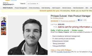Le CV de Philippe Dubost en forme de page Amazon.