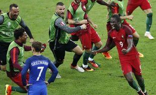 La joie d'Eder au moment du but portugais, le 10 juillet 2016 au Stade de France.