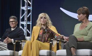 La créatrice de la série Jill Soloway et les actrices Judith Light et Alexandra Billings (de gauche à droite), devant la Television Critics Association le 27 juillet.