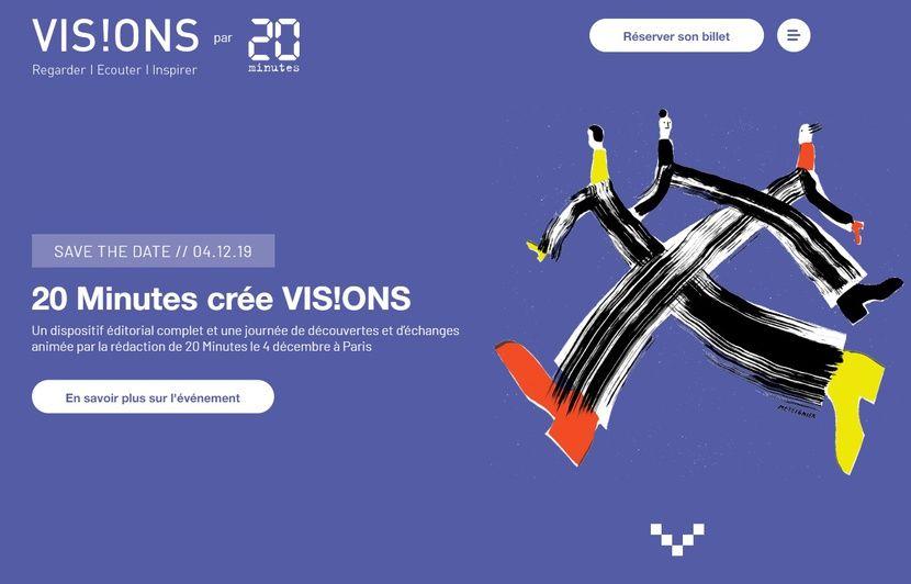 Créez des liens avec «20 Minutes» et l'événement VIS!ONS