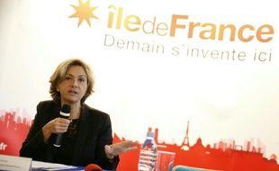La présidente de la Région Ile-de-France Valérie Pécresse (LR) le 21 mars 2016 à Paris