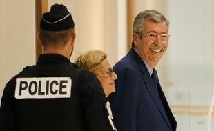 Paris, le 13 septembre. Patrick et Isabelle Balkany arrivent au tribunal correctionnel de Paris pour connaître le jugement dans le volet «fraude fiscale».