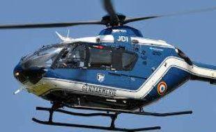 L'hélicoptère C135 de la section aérienne de la gendarmerie de Toulouse.