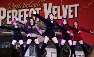 Le groupe de K-pop Red Velvet à Séoul le 17 novembre 2017 à Séoul.