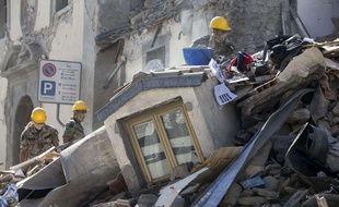 Des bâtiments écroulés à Amatrice, village italien touché par un séisme, le 24 août 2016.