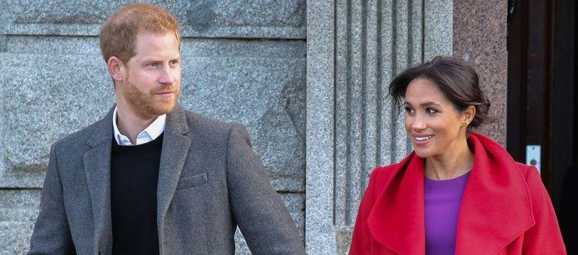 Le prince Harry et Meghan Markle à Birkenhead au Royaume-Uni.