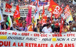 Des manifestants contre la réforme des retraites à Paris, le 23 septembre 2010.