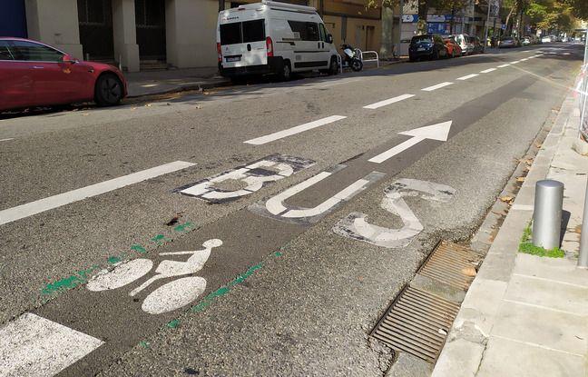 Boulevard de Riquier, les cyclistes doivent toujours partager la voie avec les bus.