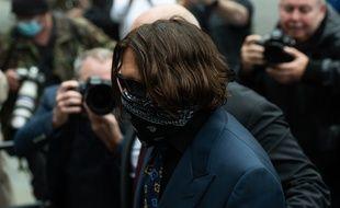 L'acteur Johnny Depp lors de son procès