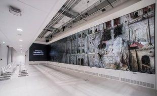 L'écran de 65 m2 dans le Lab de l'institut culturel de Google.
