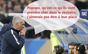 Didier Deschamps n'était pas très content de ce qu'il a vu contre la Colombie