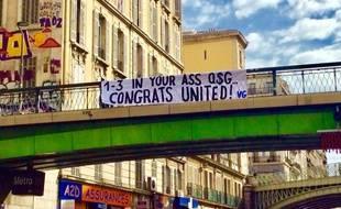 La Vieille Garde du Commando Ultra a largement chambré le PSG ces derniers jours.