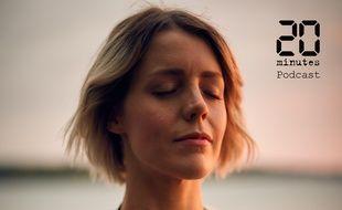 Illustration d'une femme, les yeux fermés