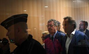 Paris, le 13 septembre. Patrick Balkany arrive au palais de justice de Paris pour entendre le jugement dans l'affaire de fraude fiscale.