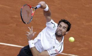 Jérémy Chardy, lors de son 8e de finale perdu contre Andy Murray à Roland-Garros,le 1er juin 2015.