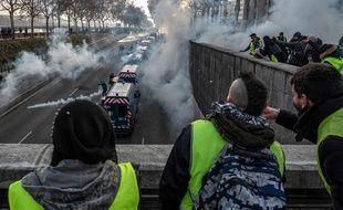 """Samedi après-midi, sur les quais du Rhône à Lyon, lors de l'acte 10 des """"gilets jaunes"""""""