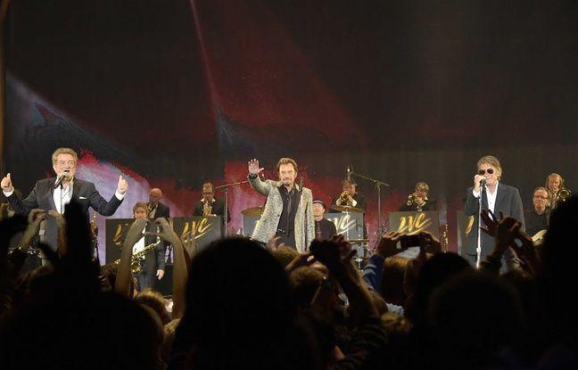 Johnny Hallyday, Eddy Mitchell et Jacques Dutronc, le 5 novembre 2014 à Bercy.
