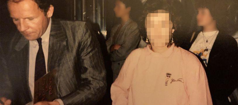 Caroline* (son prénom a été changé) et PPDA, le jour de leur rencontre, en juin 1988.