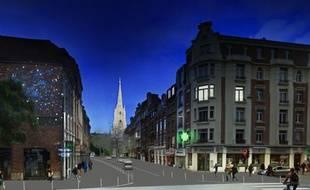 Le projet de rénovation de la rue Pierre-Mauroy, à Lille.