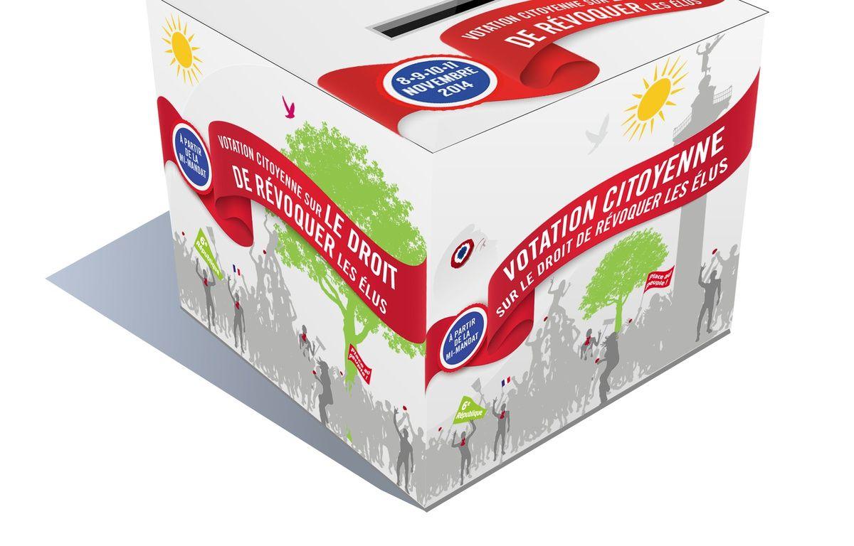 Urne sur la votation citoyenne présentée par le Parti de Gauche à propos du référendum révocatoire – DR