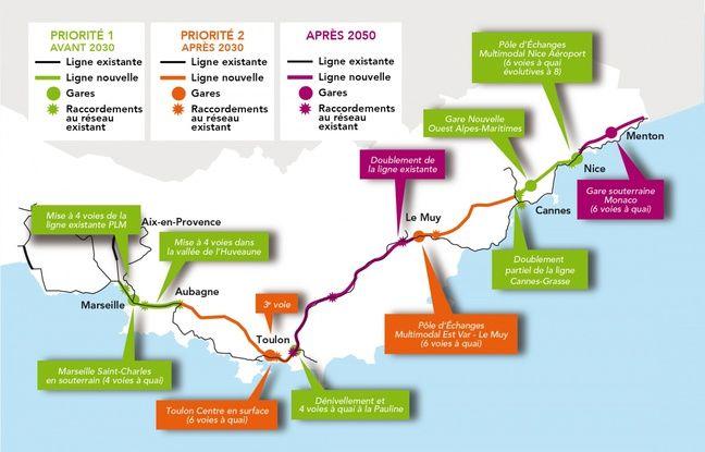 Le tracé du projet de LNPCA