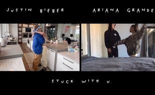 Extrait du clip «Stuck with U» d'Ariana Grande et Justin Bieber