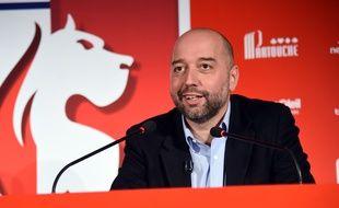 Gérard Lopez, ici lors d'une conférence de presse en janvier 2017.