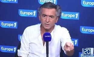 Bernard-Henri Lévy chez Europe 1, le 4 septembre 2014.