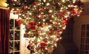 Etats Unis Le Sapin A L Envers La Nouvelle Tendance De Noel