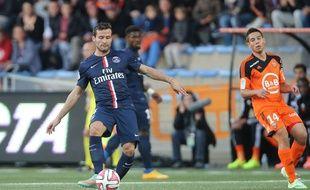 Yohan Cabaye lors de la rencontre entre Lorient et le PSG le 1er novembre 2014.