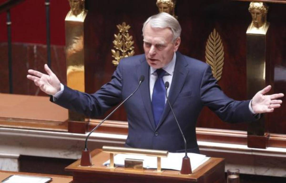 Jean-Marc Ayrault lors de son discours de politique générale à l'Assemblée nationale, le 3 juillet 2012. – CHESNOT/CHAMUSSY/SIPA