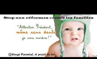Capture d'écran de la page Facebook du collectif des Bébés révoltés.