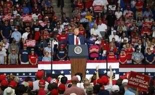 Donald Trump lors de son meeting de Tulsa, samedi soir.