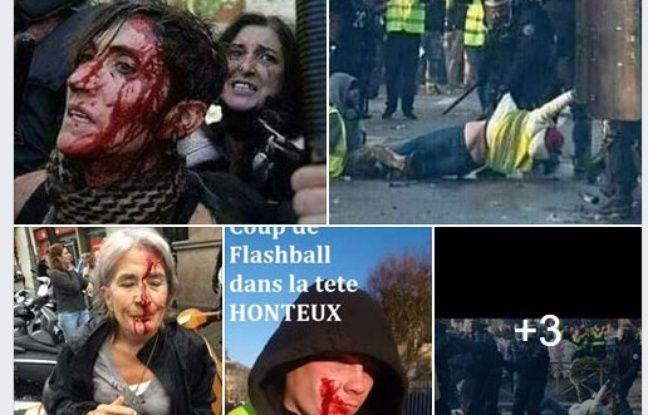 Des manifestations en Espagne… mélangées à de vraies images des « gilets  jaunes » 7c9697bc541
