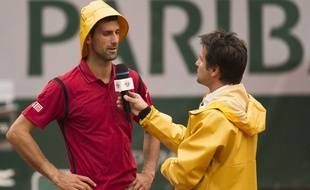 Novak Djokovic interviewé par Fabrice Santoro le 1er juin 2016.