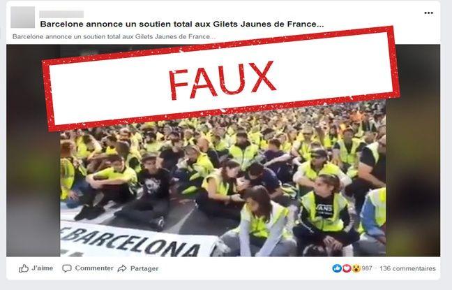A Barcelone, des dockers rendant hommage aux «gilets jaunes»? Non, c'est leur tenue de travail