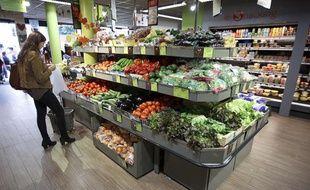 Illustration: Un supermarché.