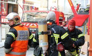 Illustration de l'intervention de pompiers, ici à Rennes.