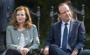 Valérie Trierweiler et François Hollande le 15 février 2013 à New Delhi