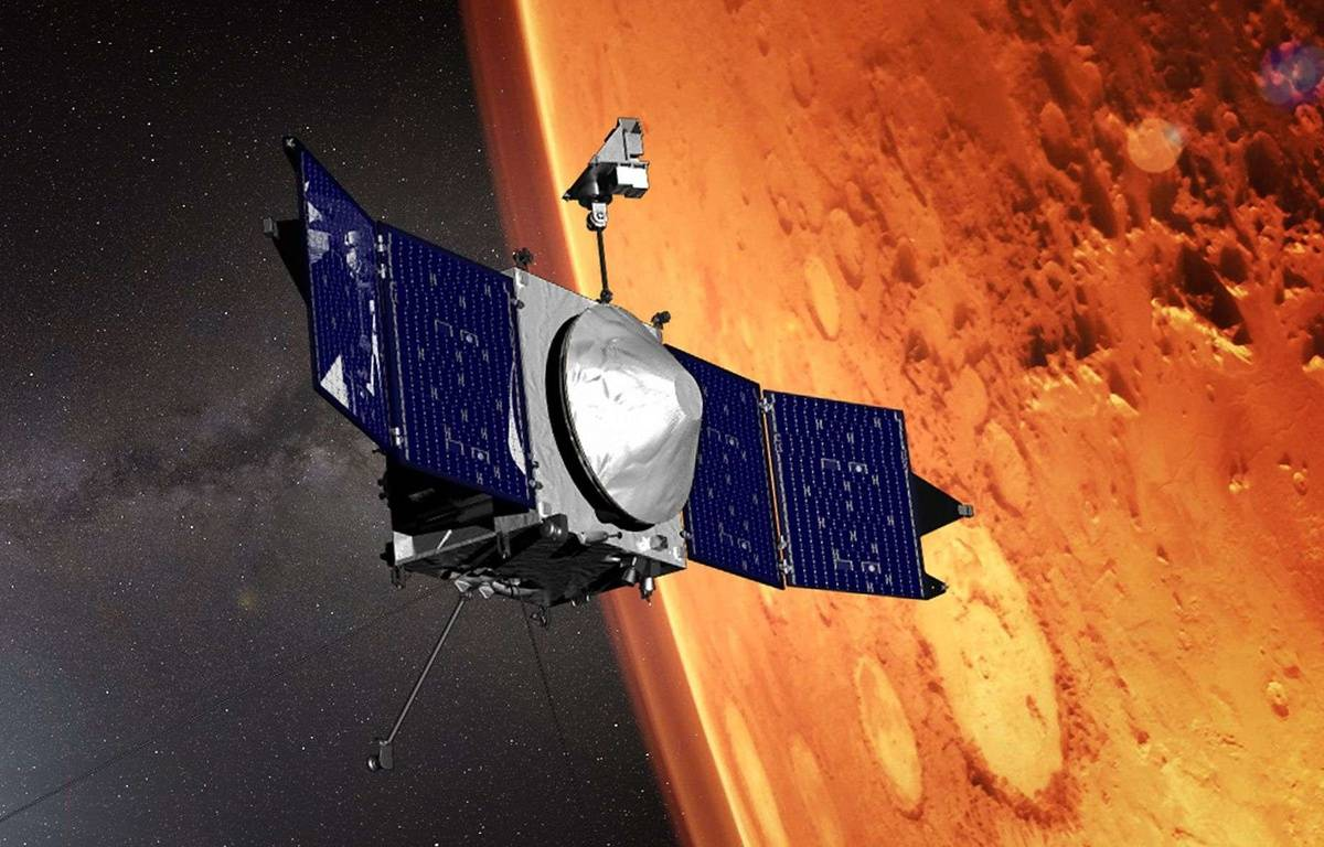 Un satellite de la NASA à proximité de la planète Mars en octobre 2016 – NASA/Shutterstock/SIPA